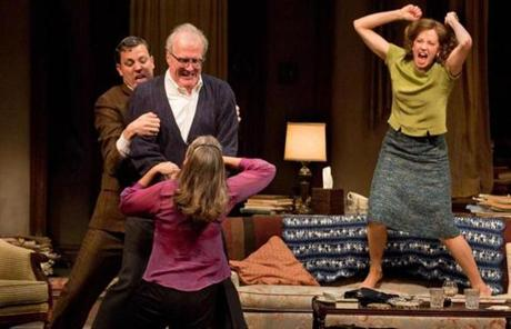 "Carrie Coon (right) in ""Who's Afraid of Virginia Woolf?"""